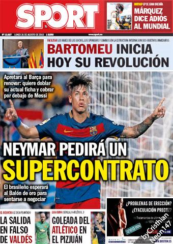 Neymar va a pedir un supercontrato SPORT