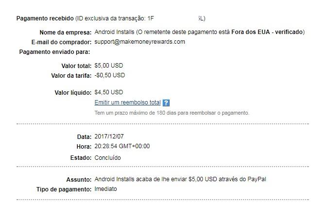OPORTUNIDADE [Provado] Money Maker Cash App - Ganha Instalando Apps, Vendo Vídeos e Check-in Diário - RECEBIDOS $ 32,00 + € 2,00 MMakerpayment5