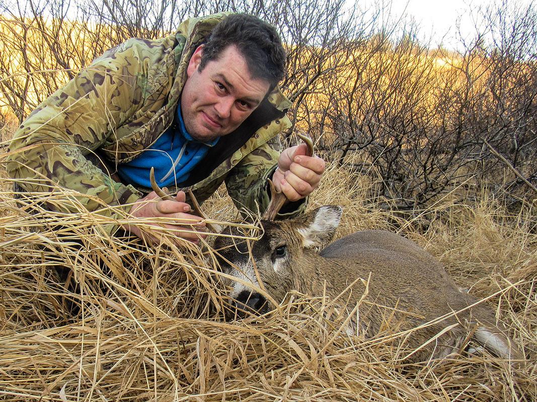 First Muzzleloader Buck 0215_brandon_buck