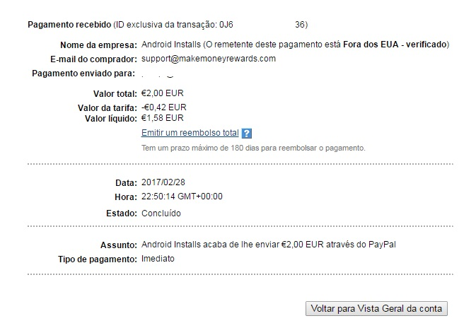 OPORTUNIDADE [Provado] Money Maker Cash App - Ganha Instalando Apps, Vendo Vídeos e Check-in Diário - RECEBIDOS $ 32,00 + € 2,00 MMAKER2ndpay