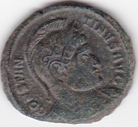 AE3 de Constantino I - BEATA TRAN-QVILLITAS, VO/TIS/XX - Trier IR120_A
