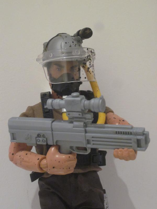 My Action Man Driller Extreme showing off his new  HK G11. IMG_4553