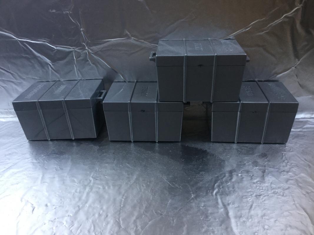 X Guards unloading boxes.  6B0F3E45-4A07-417A-8BEE-01EB58603FB8
