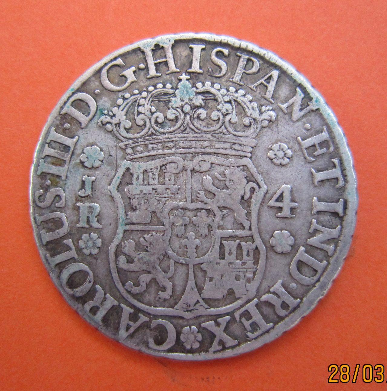 """4 reales """"columnario"""" Carlos III. 1770. Potosí 4_reales_1770_Potos_Carlos_III_anv"""