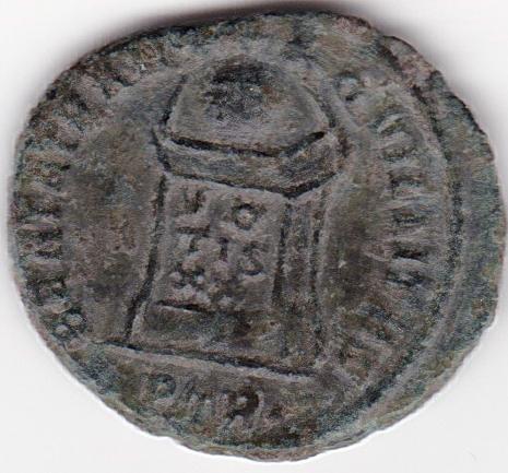 AE3 de Constantino I - BEATA TRAN-QVILLITAS, VO/TIS/XX - Trier IR120_B