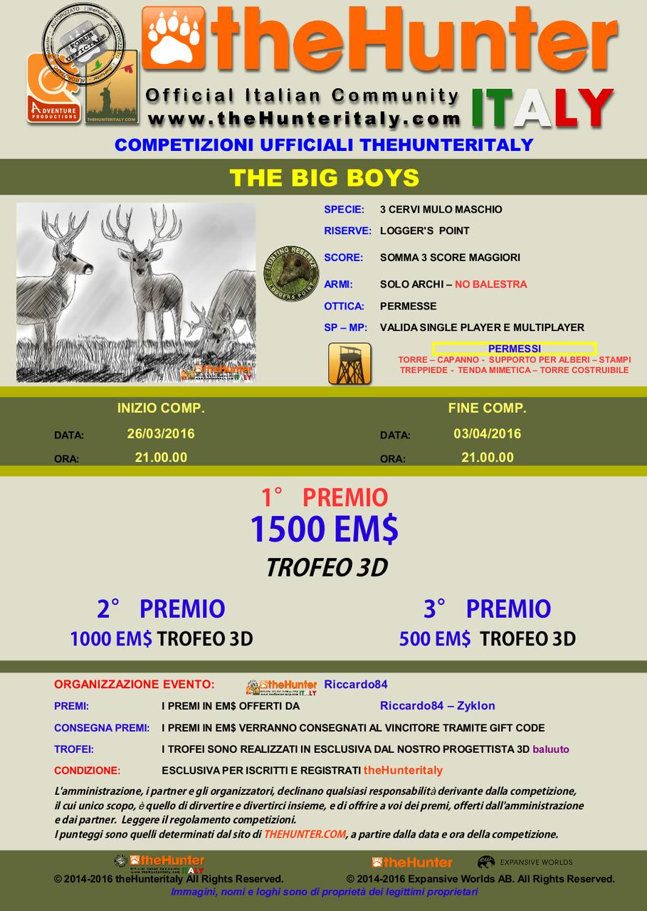 [CONCLUSA] - Competizioni Ufficiali theHunterItaly: - THE BIG BOYS - Cervo Mulo 3_CERVI_MULI_26_3_16