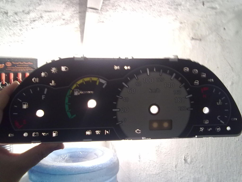 LED indicador de portas abertas Mk6B sedan no painel. Info_painel
