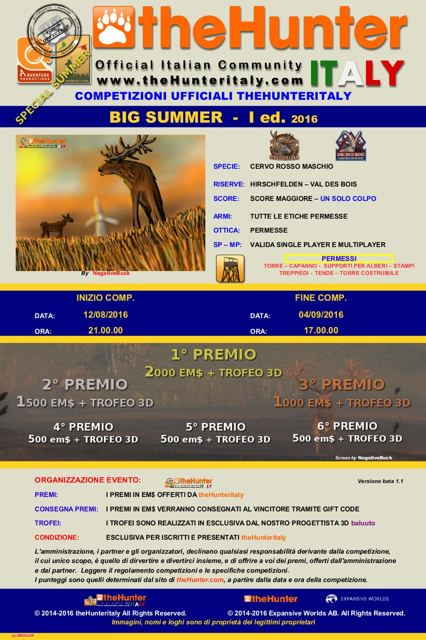 [CONCLUSA] Competizioni ufficiali TheHunteritaly - Big Summer I ED - Cervo Rosso BIG_SUMMER_I_EDIZIONE_CERVO_ROSSO