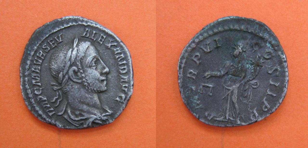Denario de Alejandro Severo. P M TR P VI COS II P P. Roma. (Aequitas) Denario_Alejandro_Severo_P_M_TR_P_VI_COS_II_P_P