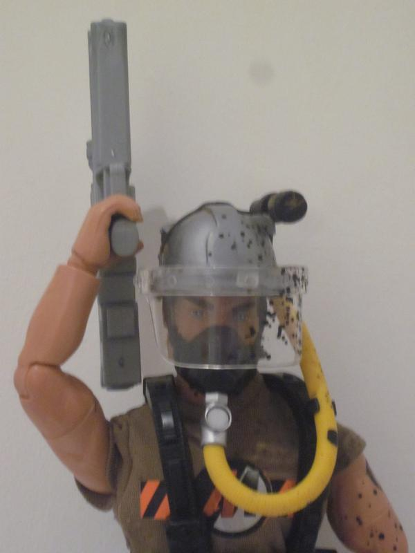 My Action Man Driller Extreme showing off his new  HK G11. IMG_4554