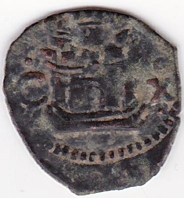 Felipe II Blanca Ceca de Cuenca. Es32b