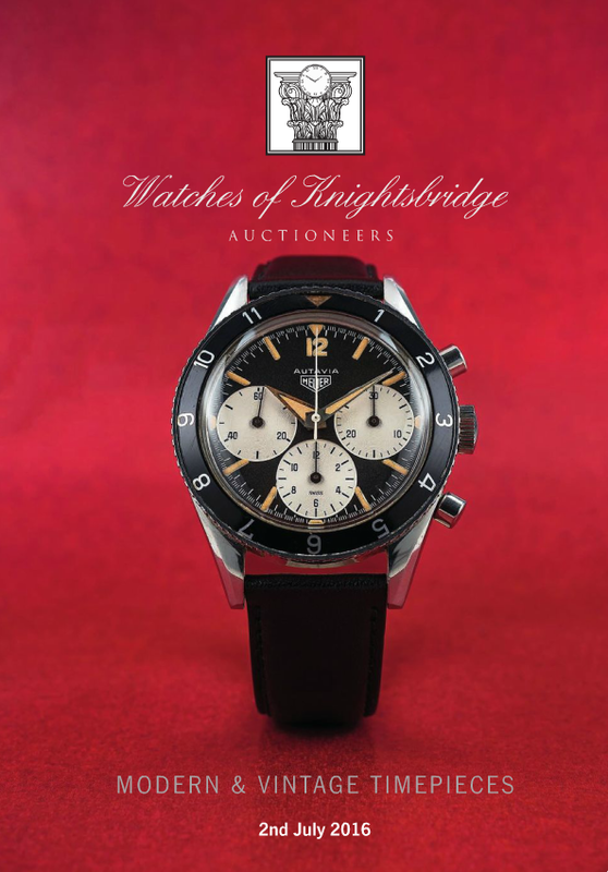 Catálogo - Watches of Knightsbridge: Modern and Vintage Timepieces – Julho 2016 WOK_Modern_and_Vintage_Timepieces_020716