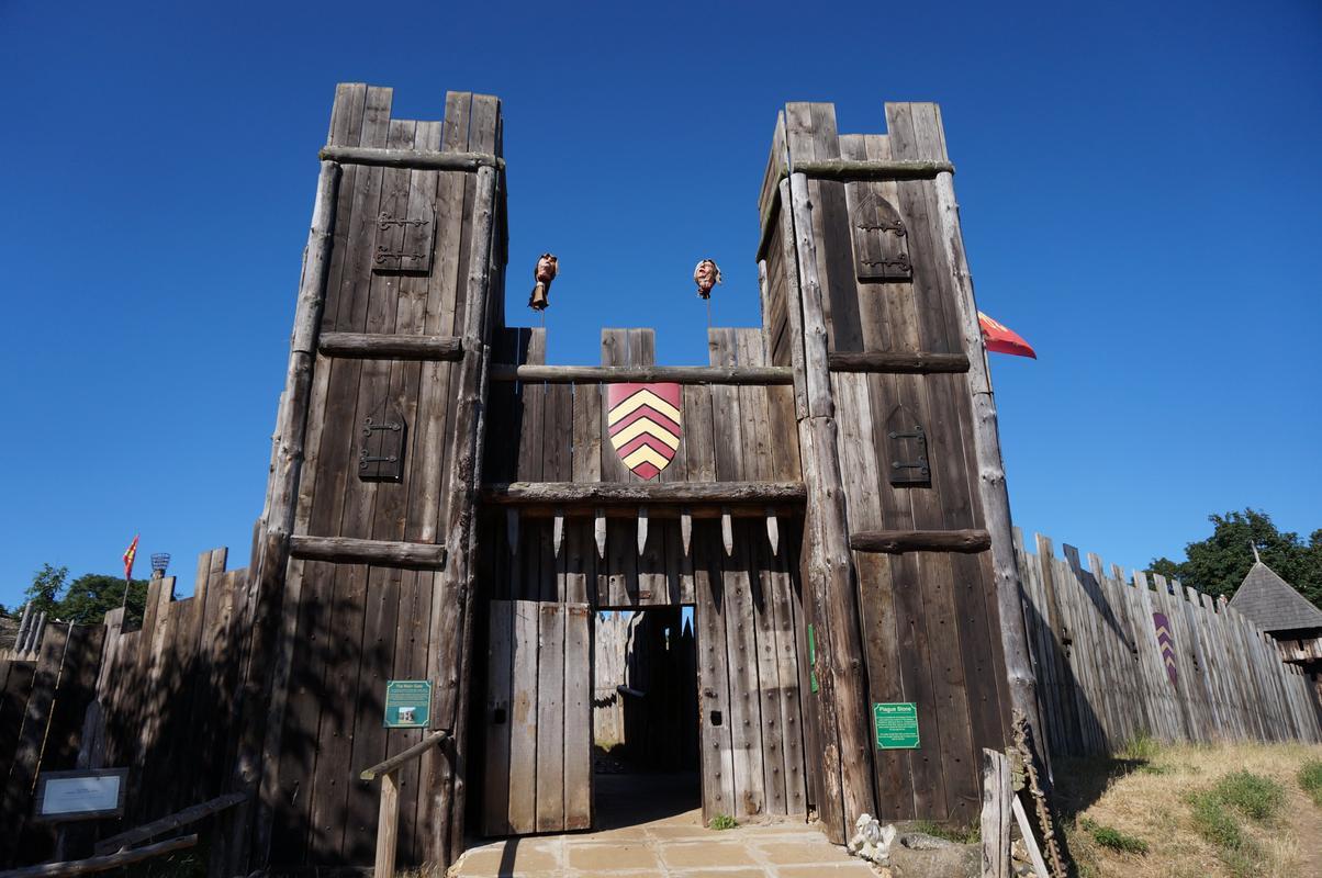 My MAM visiting Mountfitchet Castle. 0086_C8_F2-9_AE2-4694-_B595-_E88_FFF09_B248