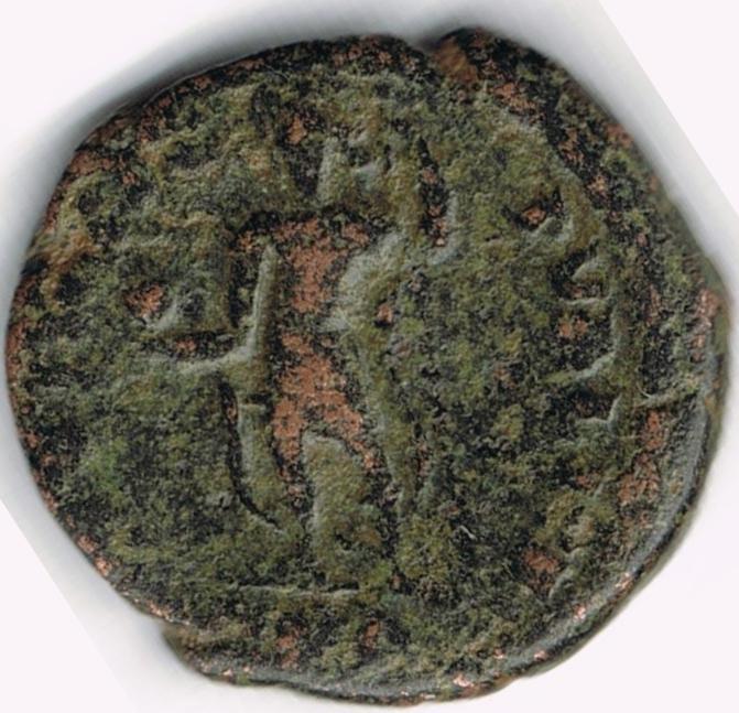AE4 de Constancio II. SPES REI PVBLICE. Emperador a izq. 21b