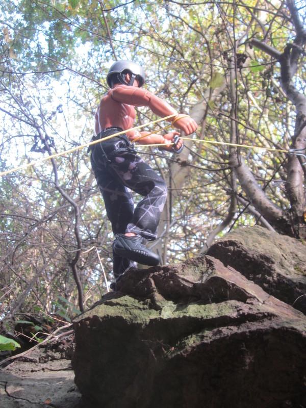 Random Action Man Rock Climbing Abseiling Photos. IMG_4776