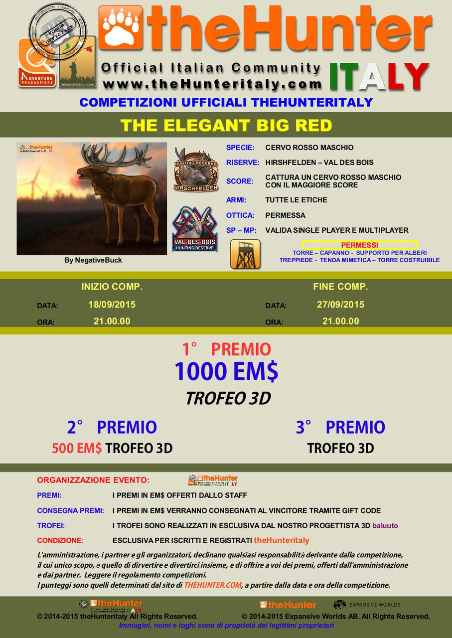 [CONCLUSA] - Competizione Ufficiali theHunteritaly: THE ELEGANT BIG RED - Cervo Rosso THE_ELEGANT_BIG_RED_18_9_15