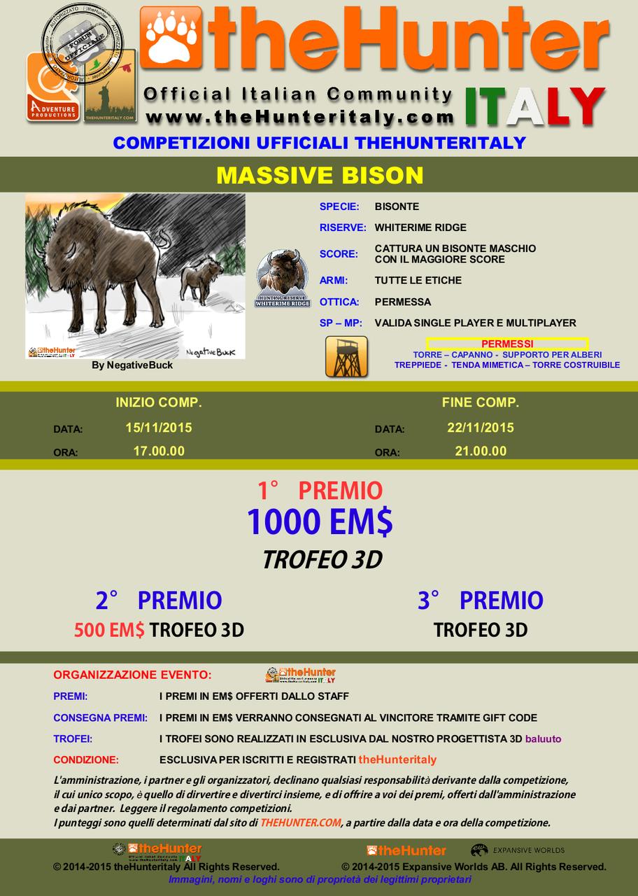 [CONCLUSA] - Competizioni Ufficiali theHunterItaly: MASSIVE BISON - Bisonte MASSIVE_BISON_15_11
