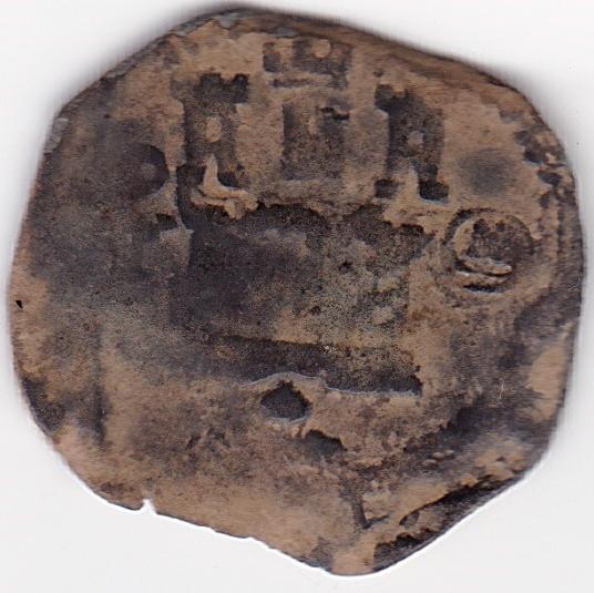 2 Maravedies de Felipe II ceca Toledo Es7b