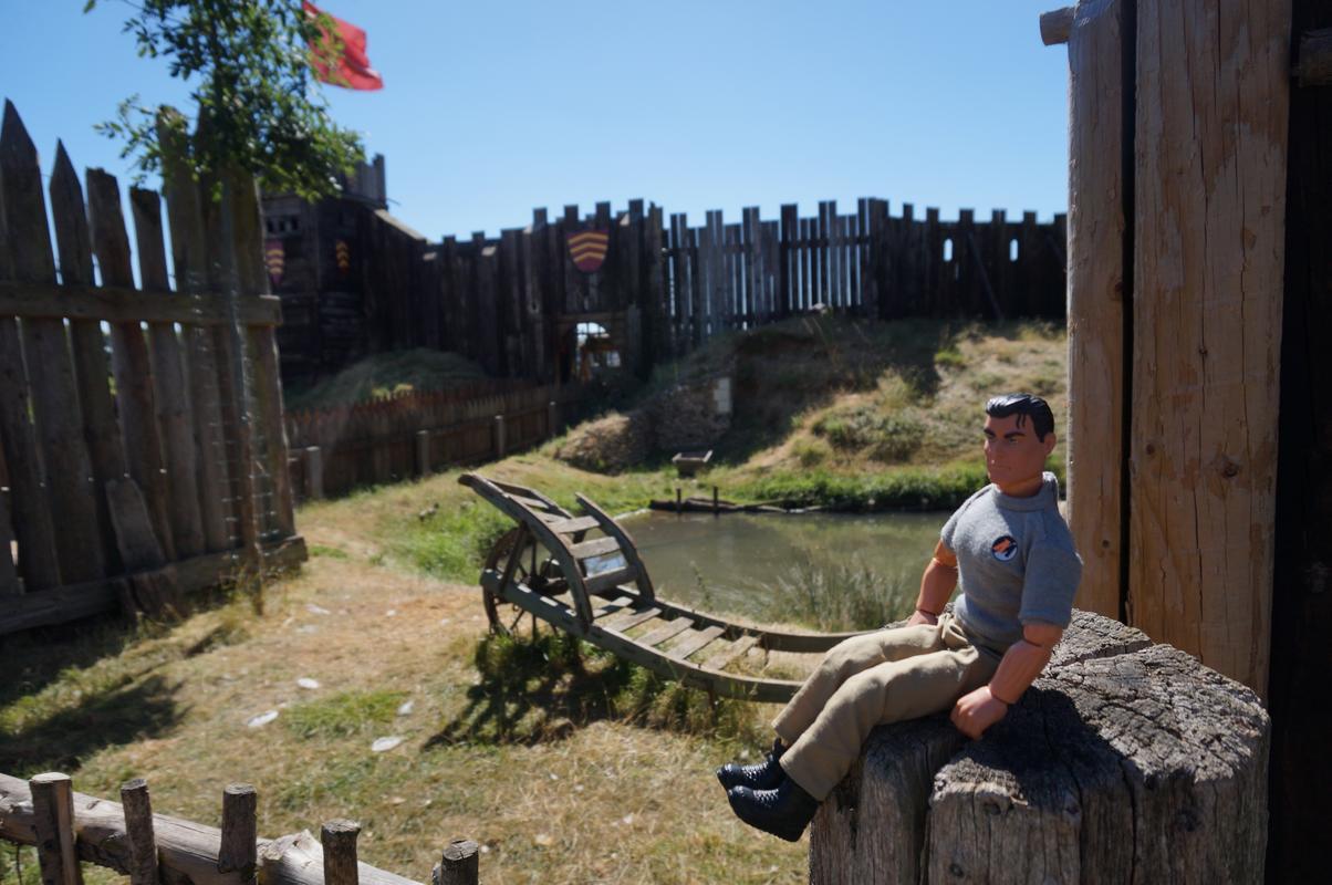 My MAM visiting Mountfitchet Castle. BDFA7_EB5-8039-4706-83_DF-_EBB6_A069742_F