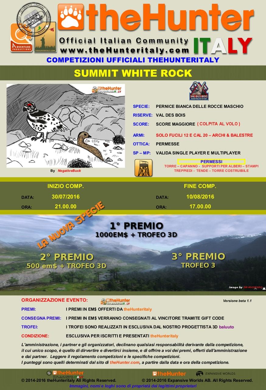 [CONCLUSA] Competizioni ufficiali TheHunteritaly - Summit White Rock - Pernice Bianca delle rocce PERNICE_BIANCA_SUMMIT_WHITE_MANIFESTO_VOLO