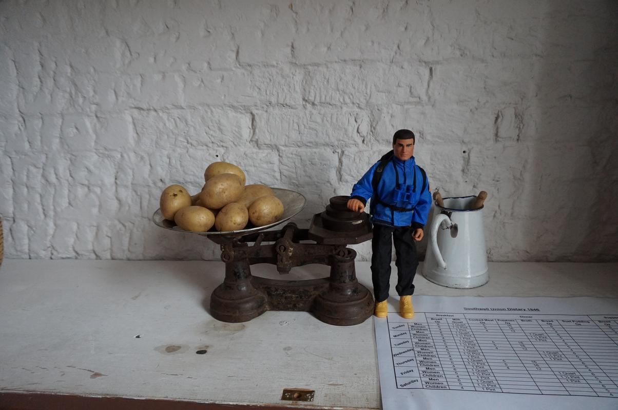 My Modern Action Man visiting  Southwell Workhouse DSC00181