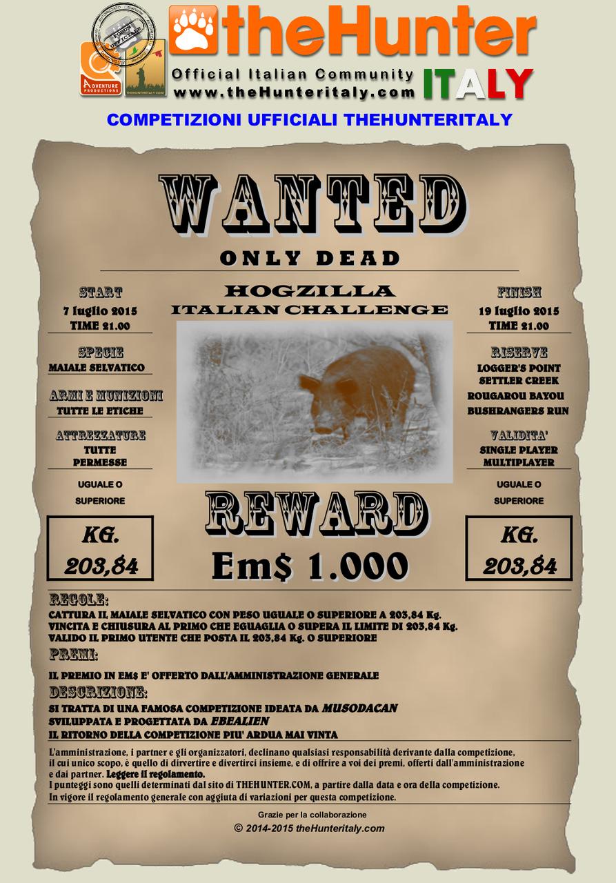 [CONCLUSA] - Competizione theHunteritaly Wanted: Hogzilla Italian Challenge 6° edizione Wanted_feral_hog_20384_07_07_15