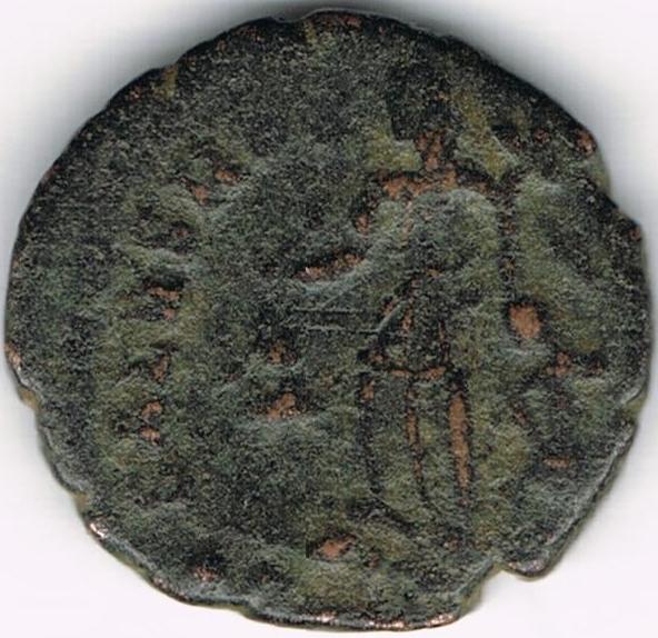 AE4 de Valentiniano II. SALVS REI PVBLICAE IR2_B