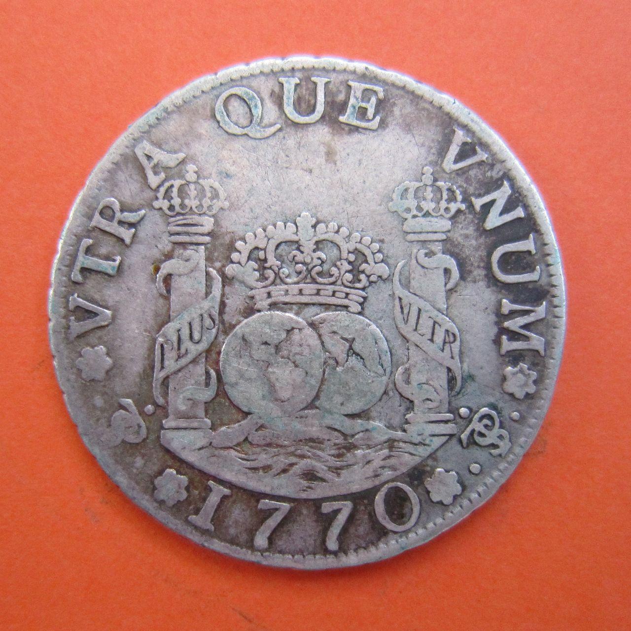 """4 reales """"columnario"""" Carlos III. 1770. Potosí 4_reales_1770_Potos_Carlos_III_rev"""
