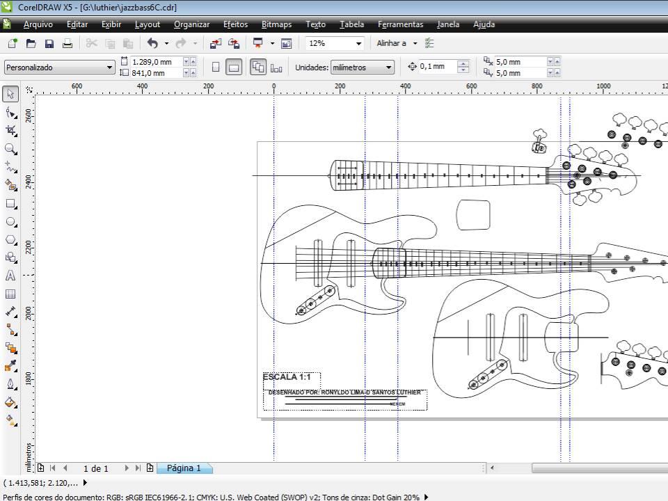 construção de um jazz bass 6 cordas JB6c