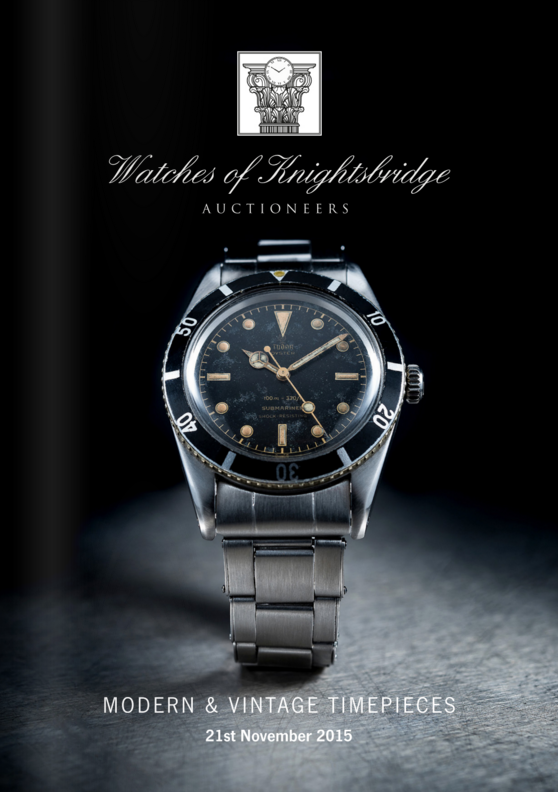 Catálogo - Watches of Knightsbridge: Modern and Vintage Timepieces – Novembro 2015 WOK_Modern_and_Vintage_Timepieces_211115