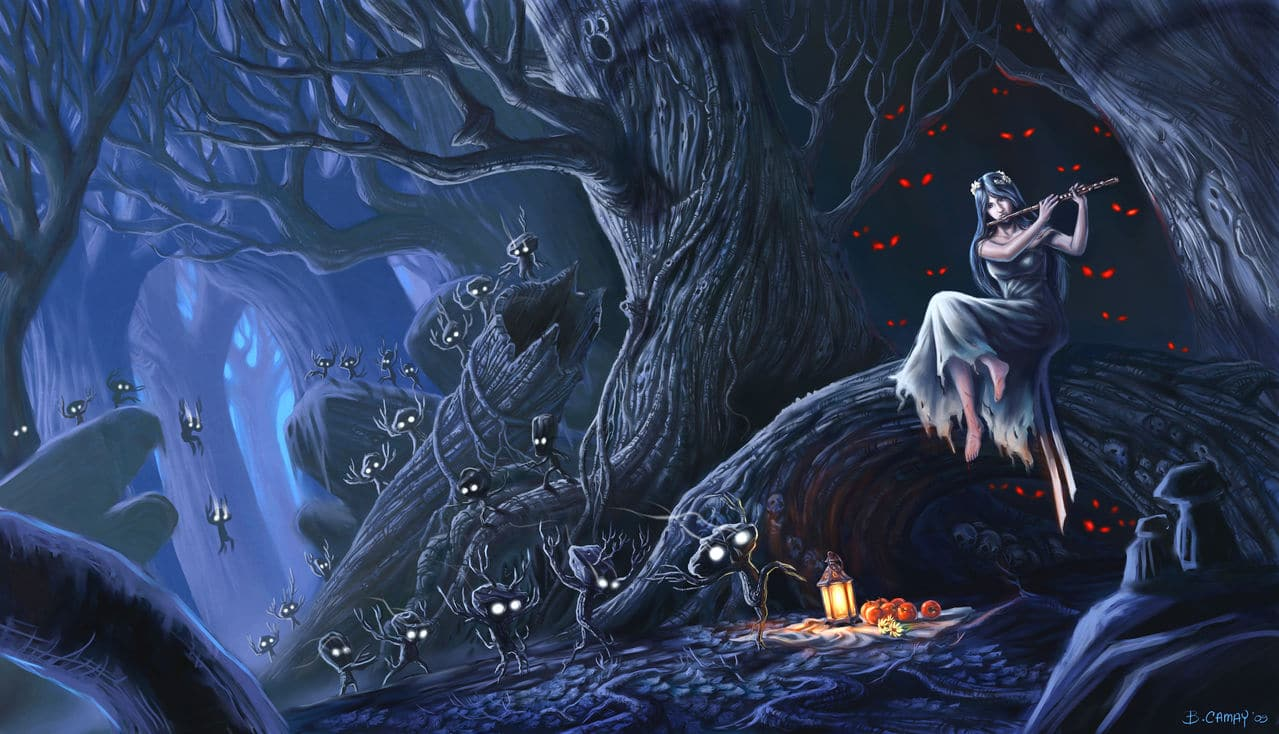 Anarchy Monsters Native_Spirits_of_the_Lifeless_Forest_fantasy_gi
