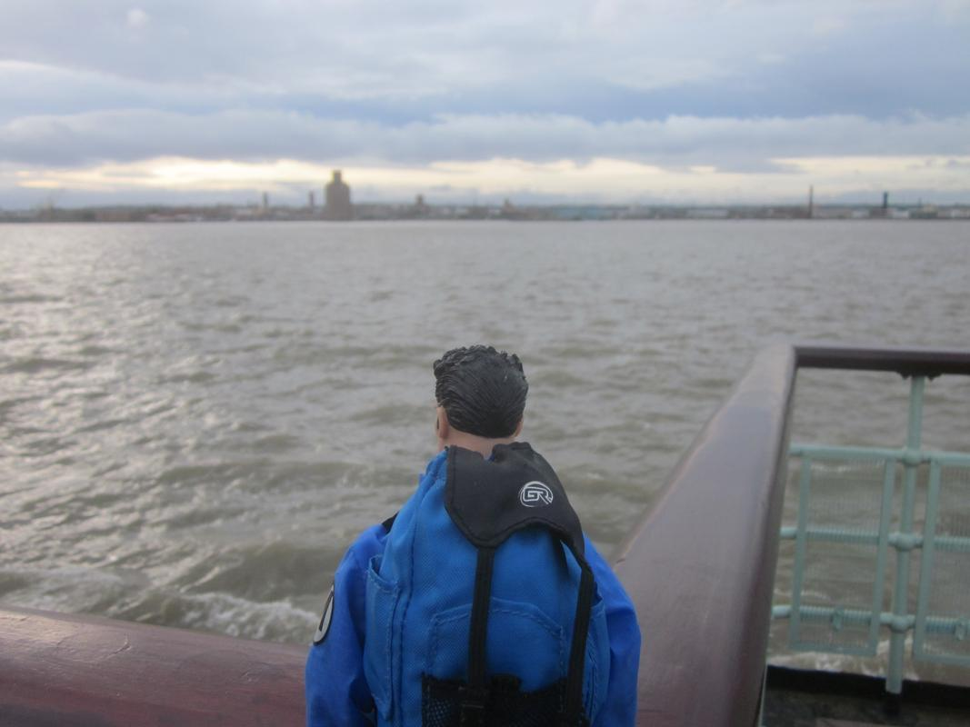 My Action Man on the Mersey Ferry. IMG_5603