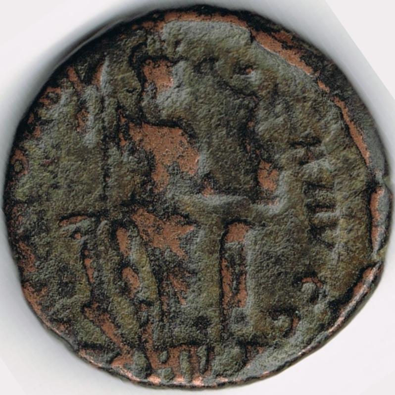 AE3 de Arcadio. CONCORDI-A AVGG. Constantinopolis de frente. Nicomedia. IR52_B