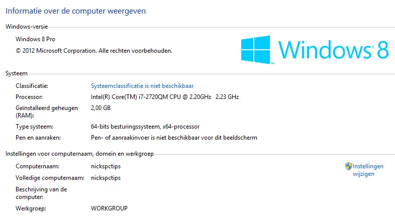 Windows 8 EN/NL Full activated Incl office 2013 20_windows_geactiveerd