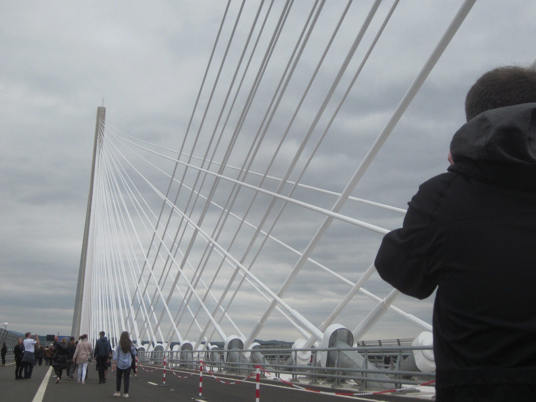 Action Man walking over the Queensferry Crossing. IMG_5410