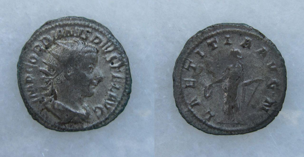 Antoniniano de Gordiano III. LAETITIA AVG N. Roma. Antoniniano_Gordiano_III_LAETITIA_AVG_N