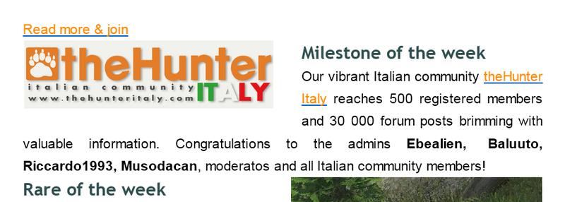 [CONCLUSA] Competizioni Ufficiali thehunterItaly - 500 utenti - ONLY THE BRAVE - multispecie Alena_500