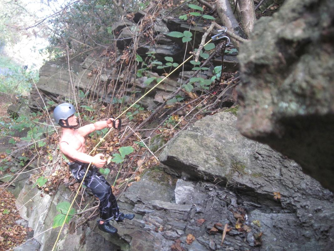 Random Action Man Rock Climbing Abseiling Photos. IMG_4774