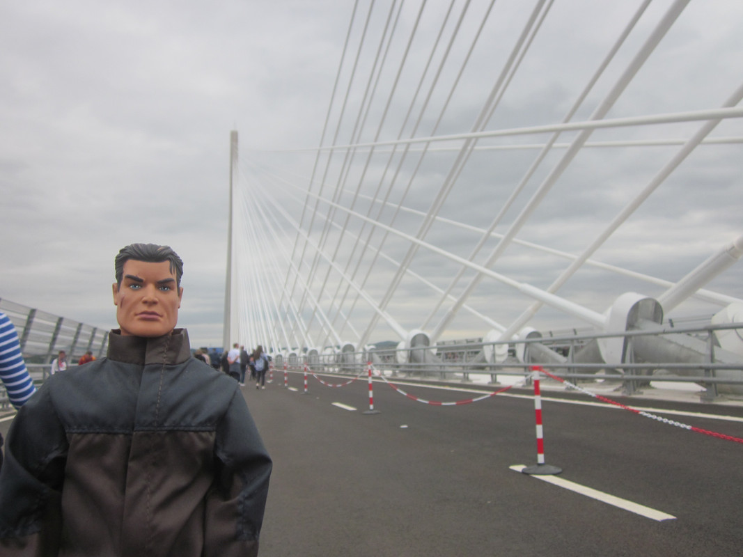 Action Man walking over the Queensferry Crossing. IMG_5411
