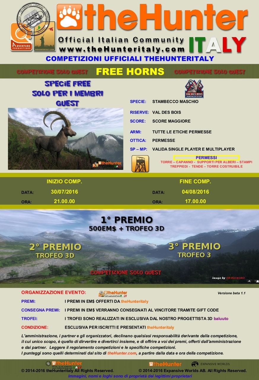 [CONCLUSA] GUEST - Competizioni ufficiali TheHunteritaly - Free Horns - Stambecco FREE_HORNS_STAMBECCO_FREE