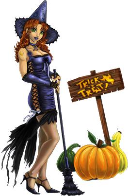 Клипарты: хэллоуин LaJn4