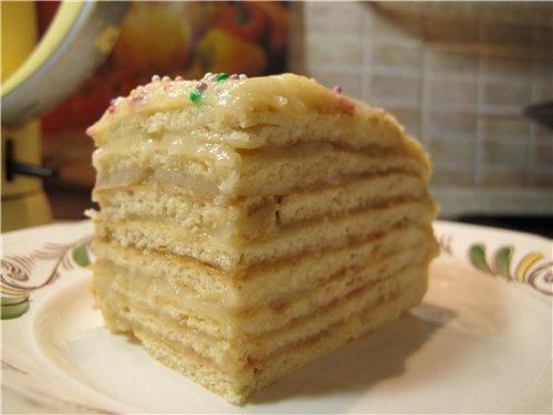 Торт на сковороде, с заварным кремом 6c7e4409033d