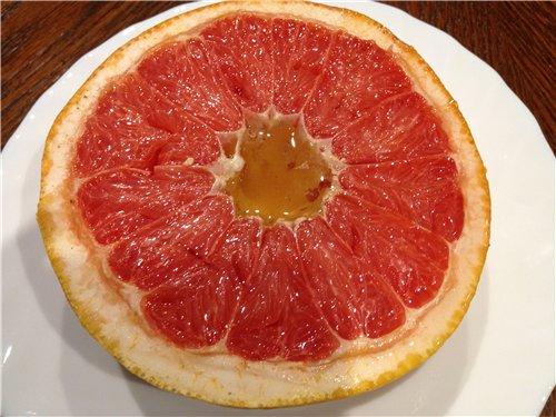 Запеченный грейпфрут с медом 14b59d27ab43