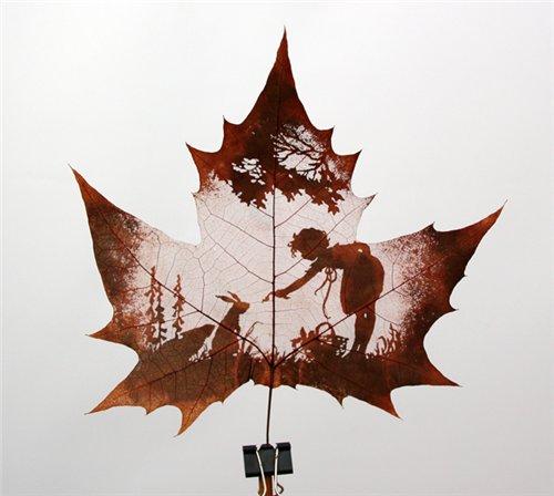 Креатив на кленовых листьях Ec284a52ebd0