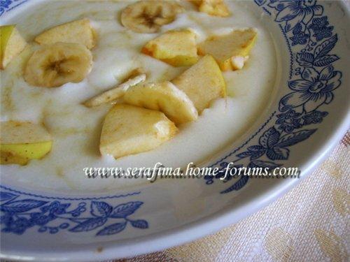 Манная каша с фруктами на завтрак 19750b754a10