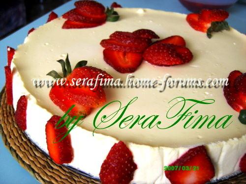 Чиз-кейк ванильный с клубничным соусом 91353ee6d5d7