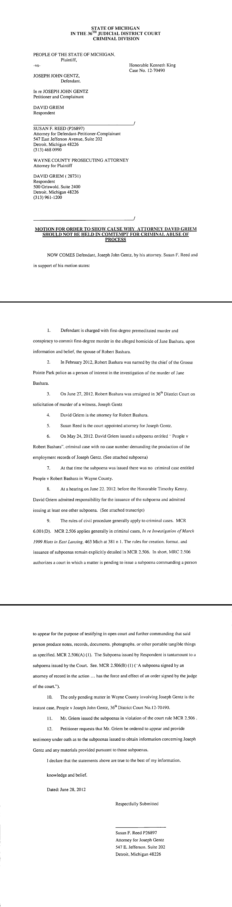 Jane Bashara murdered by Joe Gentz, alleges her husband was involved/Bashara arrested & arraigned on chges of solicitation to murder/Gentz pleads GUILTY to 2nd degree murder/Bashara sentenced to life: 'May Jane now truly rest in peace' - Page 2 A8af1922245f