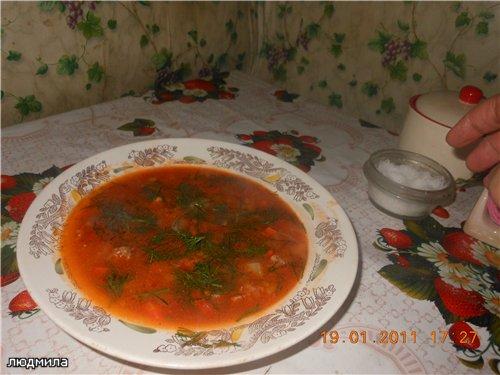 """Суп с фрикадельками """"Осенняя палитра"""" 5378f5335a27"""
