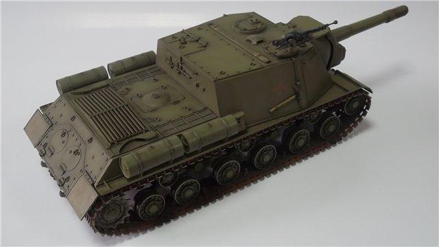 "ИСУ-152 ""Зверобой"", 1/35, (Звезда 3532) перекраска старой модели. 6b7733ddd448"