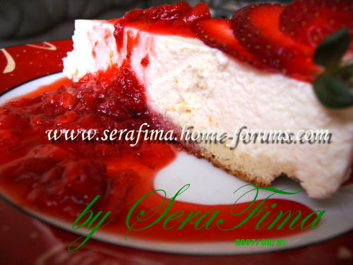 Чиз-кейк ванильный с клубничным соусом 3d59b54fe87d